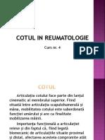 Cotul in Reumatologie Reumatism Abarticular