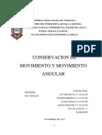 Trabajo Conservación de Movimiento y Movimiento Angular