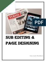 Sub Editing & Page Designing