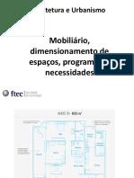 Aula_dimensionamento Dos Espaços, Mobiliário, Programa de Necessidad