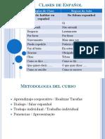 Presentación idioma Español