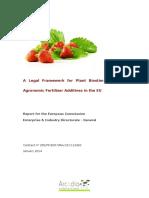 A Legal Framework for Plant Biostimulants and Agronomic Fertilisers Additives