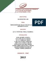 """""""Deflexión de Vigas Con Ecuaciones Diferenciales"""" Informe"""