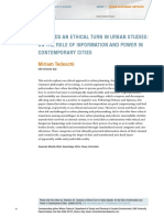 Towards an Ethical Turn in Urban Studies on the Role of Information and Power in Contemporary Cities