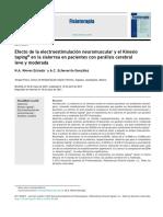 2013 Efecto de la electroestimulación neuromuscular y el Kinesio taping® en la sialorrea en pacientes con parálisis cerebral leve y moderada