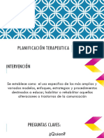 Planificación terapeutica