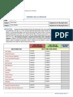 comp 1 and 2 checklist
