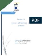 Informe de Sensor Ultrasonico