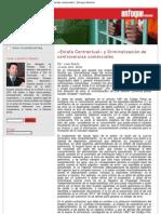 «Estafa Contractual» y criminalización de controversias comerciales