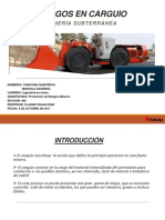 Prevención de Riesgo- riesgos del carguío en minería subterránea