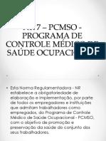 NR7 Programa de Controle Médico e Saúde Ocupacional