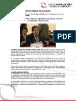 Contraloría presentará propuestas legislativas para mejorar control de acciones de la reconstrucción