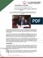 Contraloría sustenta Presupuesto Año Fiscal 2018 ascendente a 525 millones de soles