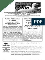 April 2008 Peligram Newsletter Pelican Island Audubon Society