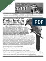 September 2008 Peligram Newsletter Pelican Island Audubon Society