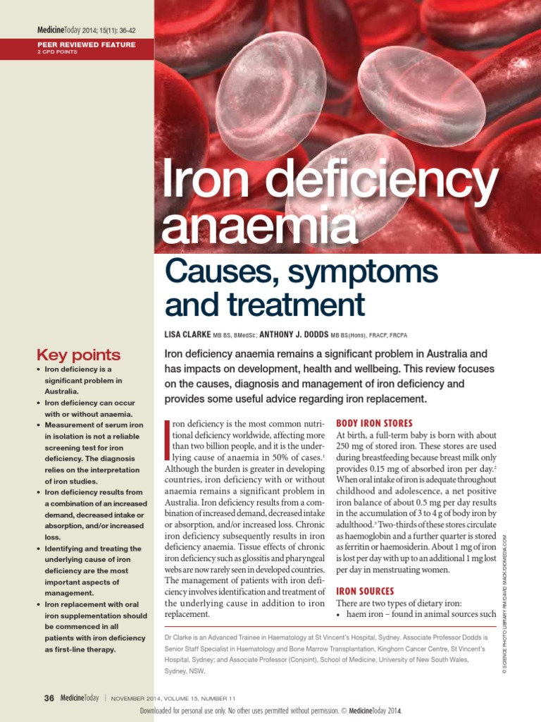MT2014-11-036-CLARKE iron deficiency anemia.pdf | Anemia | Coeliac Disease