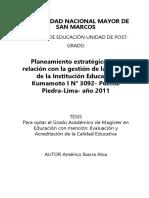 Tesis de Planeamiento Estrategico en Peru