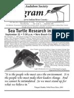 September 2009 Peligram Newsletter Pelican Island Audubon Society