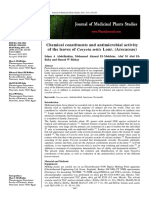 Chemical Constituents and Antimicrobial Activity of the Leaves of Caryota Mitis Lour. (Arecaceae)