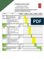 Cronograma Proyectos Universidad