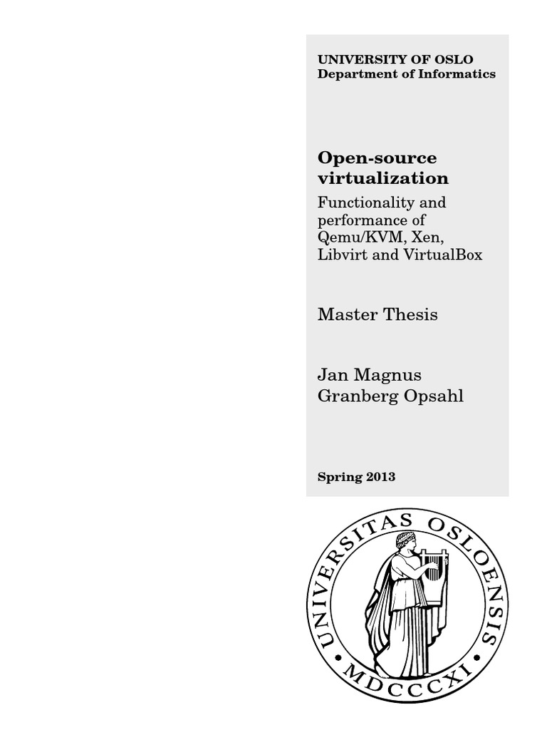 Master thesis on virtualization