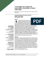 A Reciclagem de Resíduos de Construçao e Demoliçao No Brasil 1986-2008