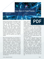 Blockchain- A New Dawn in Trade Finance - Compare the Cloud - September 2017