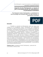 Eduardo Leal. La Investigación Acción Participación