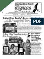 April 2010 Peligram Newsletter Pelican Island Audubon Society