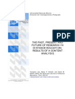 The Past, Present and Future of Research in Distance Education