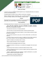 Faltas Justificadas e Não Justificadas - Manual Básico de Rotinas Trabalhistas