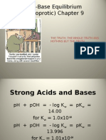 Acid-Base Equilibrium Mono Pro Tic) Chapter 9