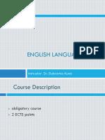 English Language I