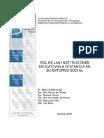 ROL DE LAS INSTITUCIONES EDUCATIVAS A DISTANCIA EN SU ENTORNO SOCIAL