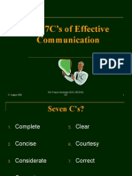 The 7C's of Effective Communication