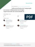 Relato de Experiência de Ensino de Computação no Ensino Fundamental em Estágio Supervisionado da Universidade de Pernambuco no Campus Garanhuns - CSBC-WEI 2015 - Oficial