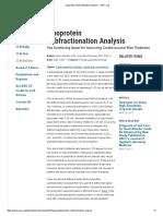Lipoprotein Subfractionation Analysis - AACC