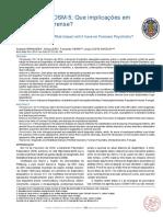DSM 5 e implicações Forense
