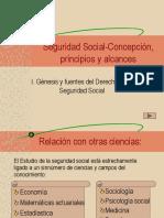 TEMA 1 Seguridad Social-Concepción, Principios y Alcances