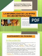 La Informalidad de Las Mypes- En Lima Metropolitana