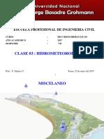 25052017 Clase 3 Hidrometeorologia