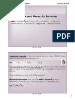Empirical and Molecular Formula Notes
