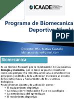 Programa de Biomecanica Deportiva Nivel I Ppt
