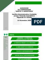 AUDIZIONE DOTT. CANNATELLI III COMMISSIONE 23.11.2009 (SLIDES)