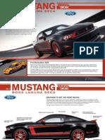 2012 Ford Mustang Boss 302 Laguna Seca Fact Sheet