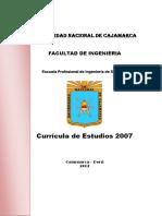 Curricula de Estudios 2007