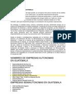 Microempresas en Guatemala