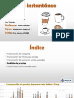 Modelo Mapa de precios Café
