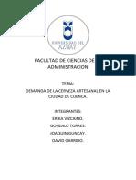 DEMANDA DE LA CERVEZA ARTESANAL EN LA CIUDAD DE CUENCA.