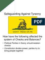 Safeguarding Against Tyranny